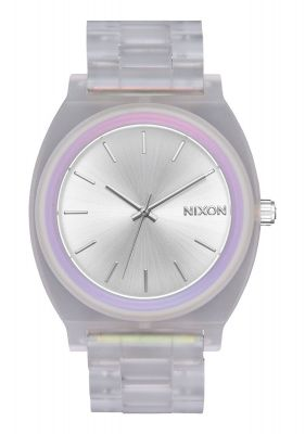 Nixon Wms Time Teller Acetate - Clear/Silver Sunray/Rainbow