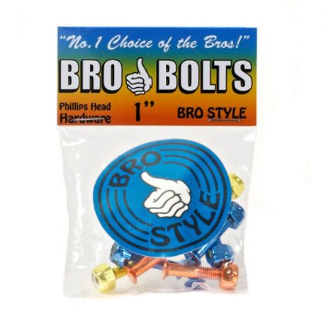"Bro Style Phillips 1"" Bolts"