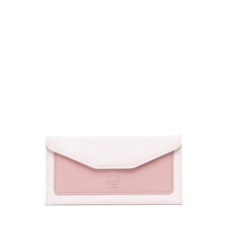 Herschel Wms Orion Large Nylon/Leather Wallet - Rose Water Pastel