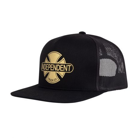 Indy Baseplate Mesh Trucker Cap - Black/Gold
