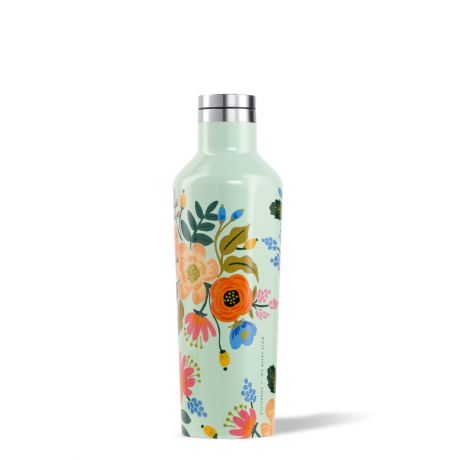 Corkcicle Rifle Paper Co. Canteen [16oz]- Mint Lively Floral