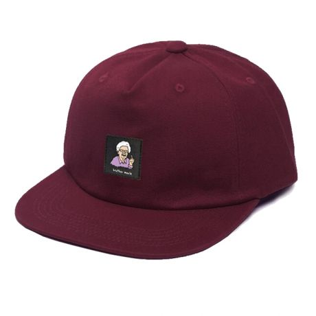 Brother Merle Betty 5 Panel Cap - Burgundy